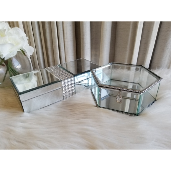 Decorative Vanity Storage Containers Bundle of 2